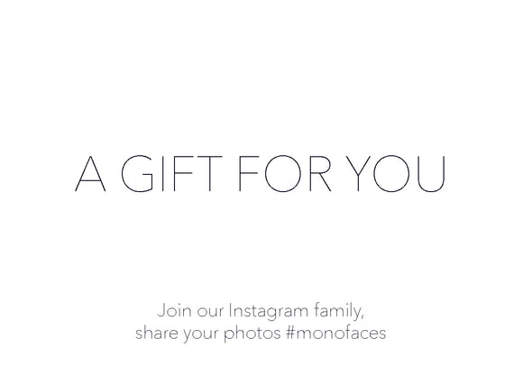 MONOFACES gift card