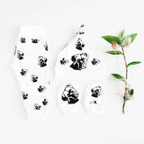 Organic cotton newborn set with Boxer Dog print