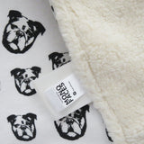 "English Bulldog Pint Organic Cotton Baby Lovey 16.5"" x 16.5"""