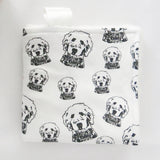 "Goldendoodle Print Organic Cotton Baby Lovey 18"" x 18"""