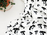 "Greyhound Print Organic Cotton Baby Swaddle Blanket 35"" x 35"""