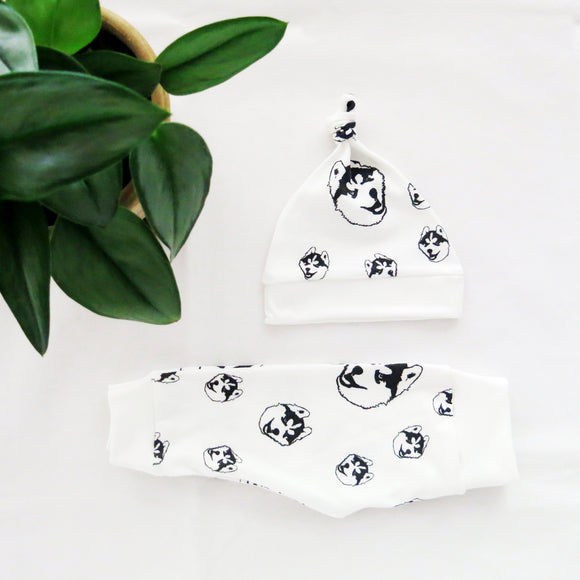 husky-baby-hat-leggings-set