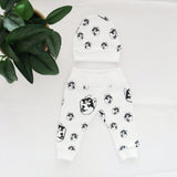 Husky Print Organic Cotton Unisex Baby Hat And Leggings Set