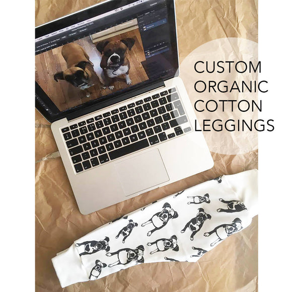 Personalised Organic Cotton Baby Leggings