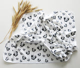 "Beagle Print Organic Cotton Swaddle Blanket Size 35"" x 35"""