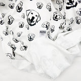 "Labrador Retriever Dog Print Organic Cotton Baby Swaddle Blanket 35"" x 35"""