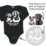 Personalised Dog Or Cat Print Organic Cotton Baby Bodysuit