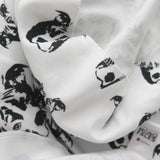 "Pit Bull Dog Print Organic Cotton Baby Swaddle Blanket 35"" x 35"""