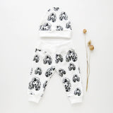Poodle Dog Print Organic Cotton Unisex Baby Hat And Leggings Set