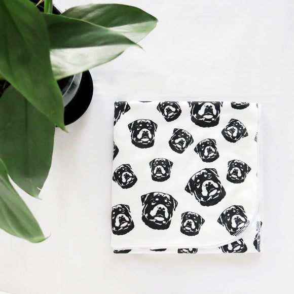 rottweiler-print-baby-swaddle-blanket