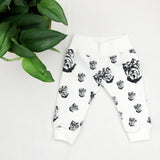 Yorkshire Terrier Print Organic Unisex Newborn Hat Mittens And Leggings Set