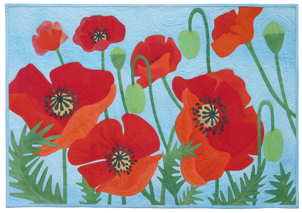 Georgetown Poppies - quilt pattern