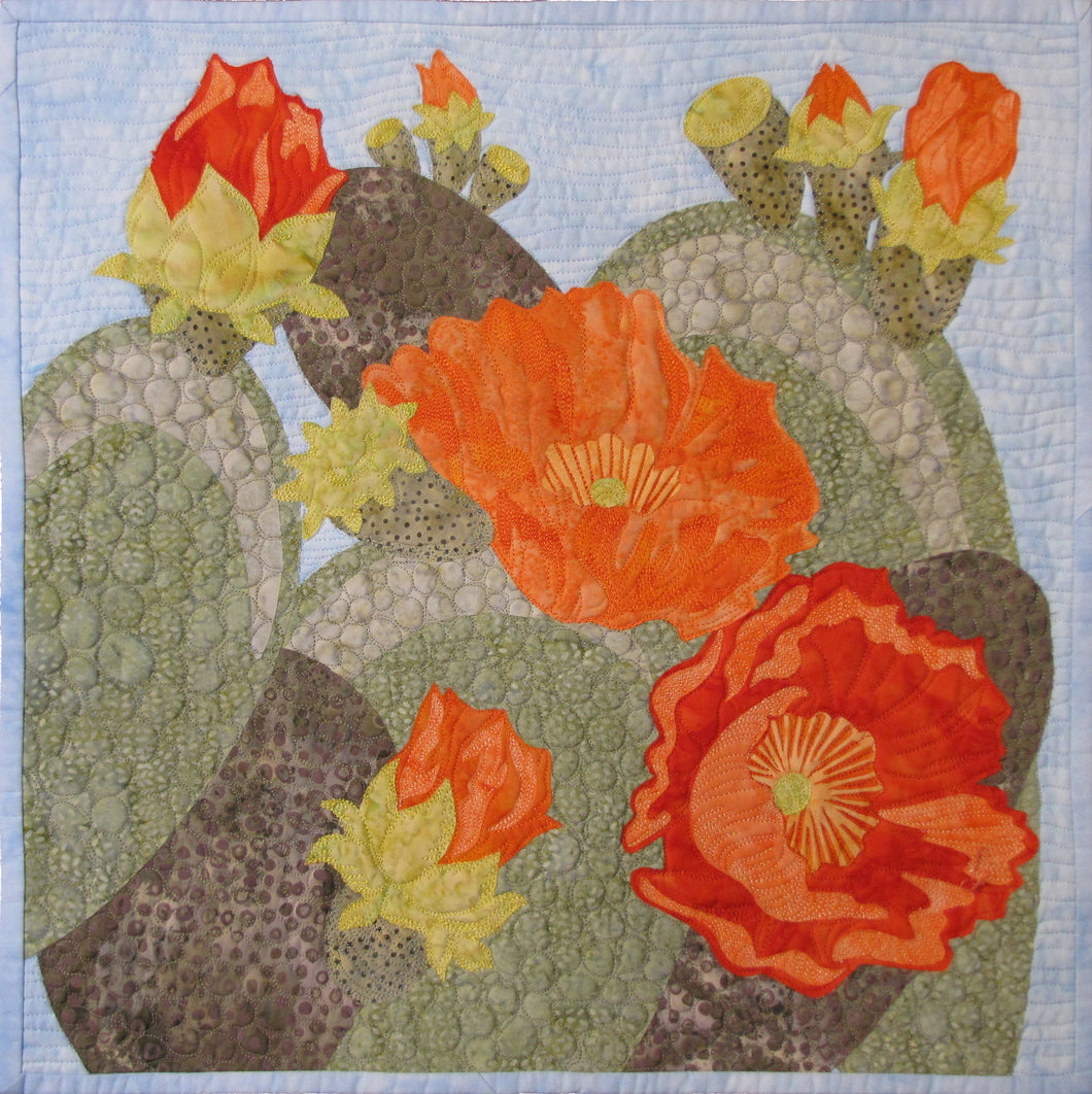 Prickly Pear In Bloom - quilt pattern