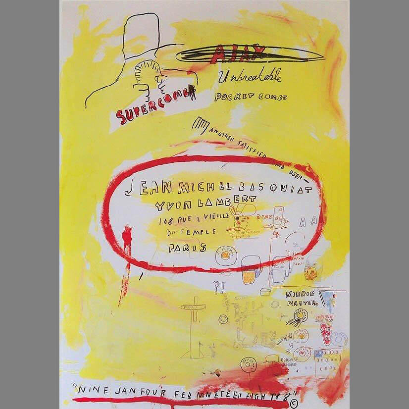 Basquiat 'Supercomb' Exhibition Poster 1988