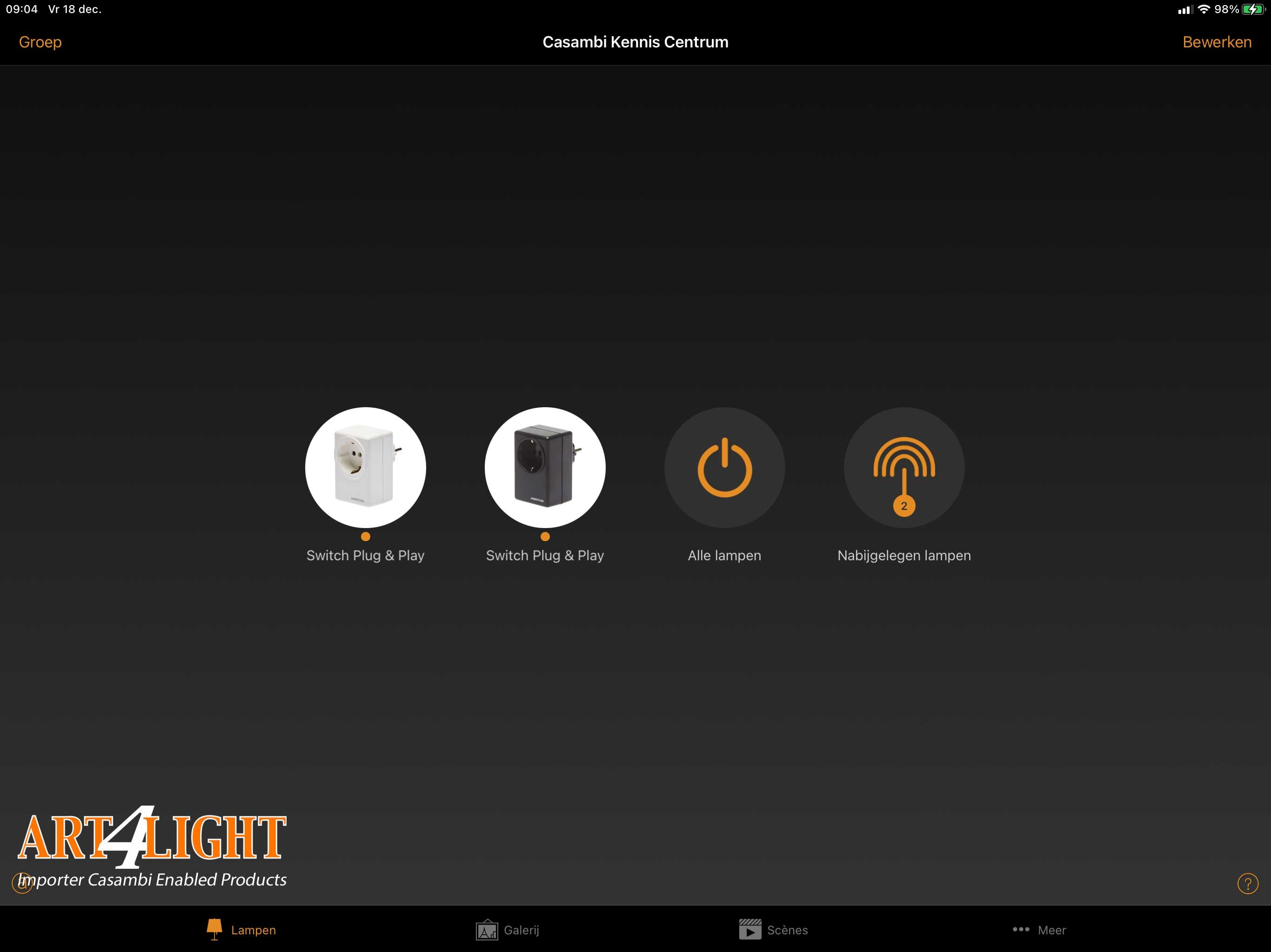 Casambi-App-weergave-AIMOTION-P&P-switch