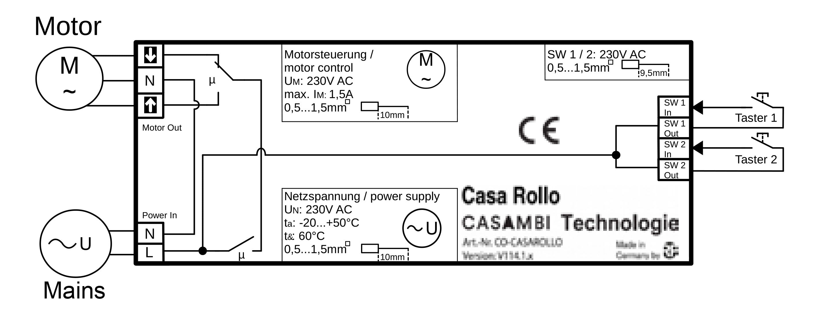 aansluitschemaTechnical-Data-Casa-Rollo