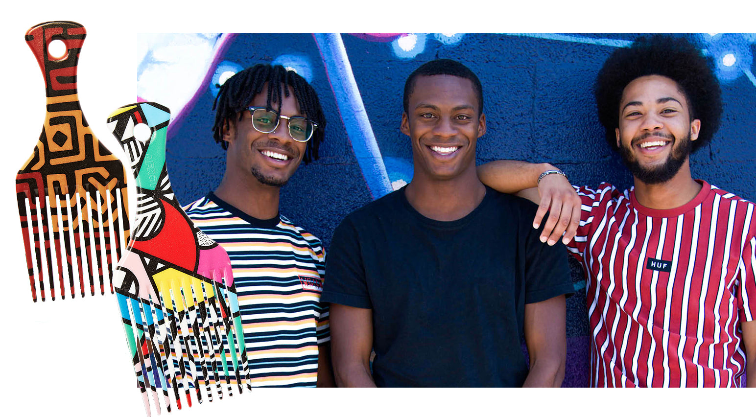 Gemille Walker, Shaquille Walker, and Zarrius Walker, founders of AfroPick