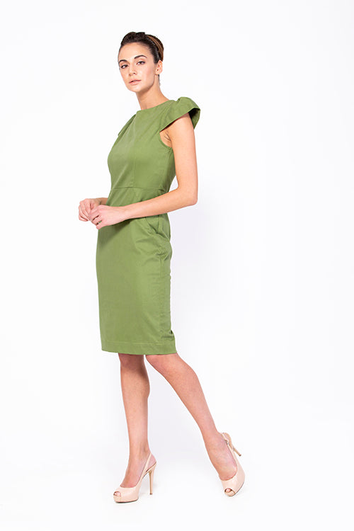 The Bougie Olive green Dress