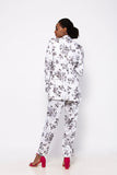 Divine in White Floral Printed Trouser