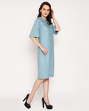 The Veronica Wide Collar - Tranquil Blue