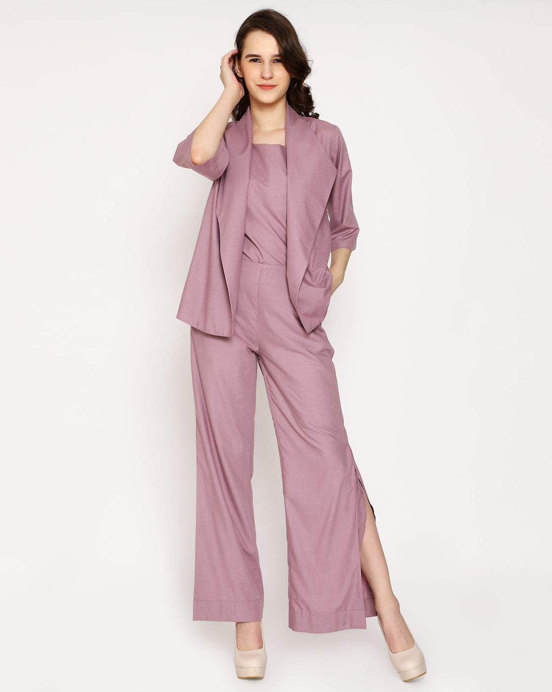The Vallentino Trouser - Paris Mauve