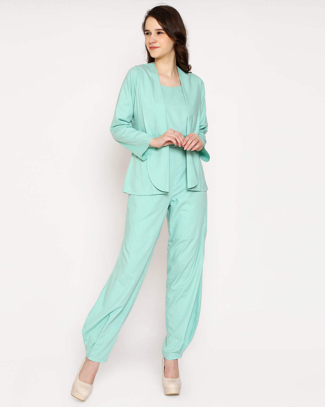 The Voguish Trouser - Sea Green