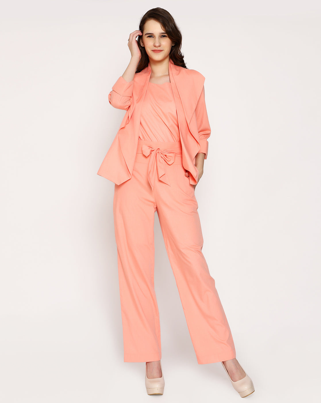 The Sassy Trouser - Flamingo Peach