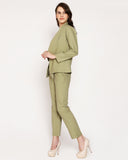 The Femme Fashion Trouser -  Olive Green