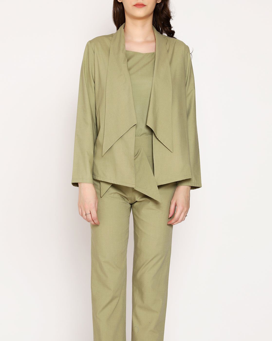 The Femme Fashion Shrug -  Olive Green