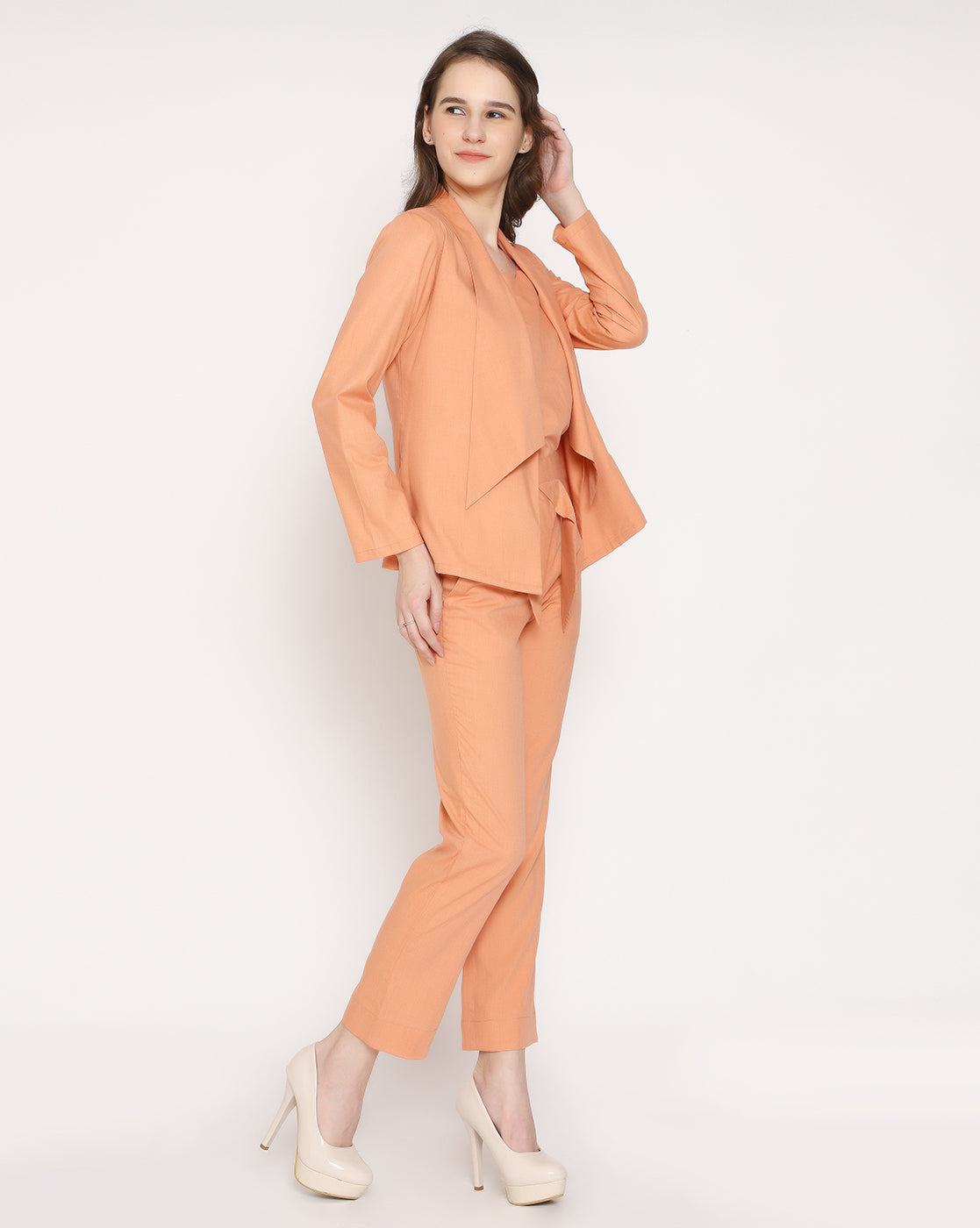 The Femme Fashion Trouser - Coral Orange