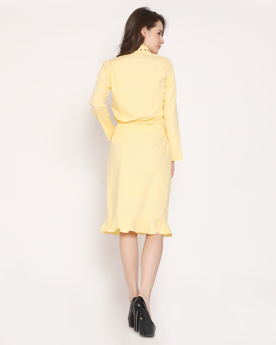 The Raunchy in Ruffle skirt - Buttercup Yellow