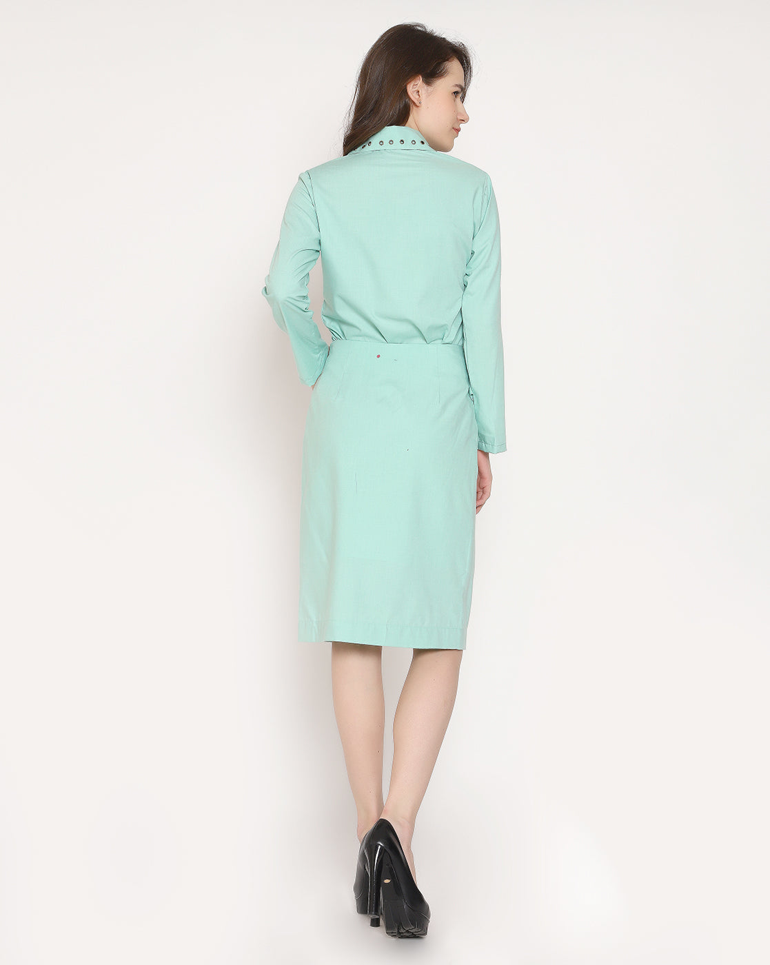The Raving Rushed Skirt-Sea Green
