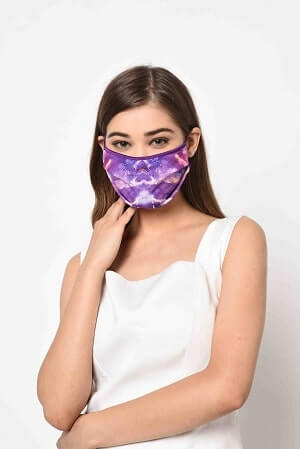 Royal Purple Printed Mask