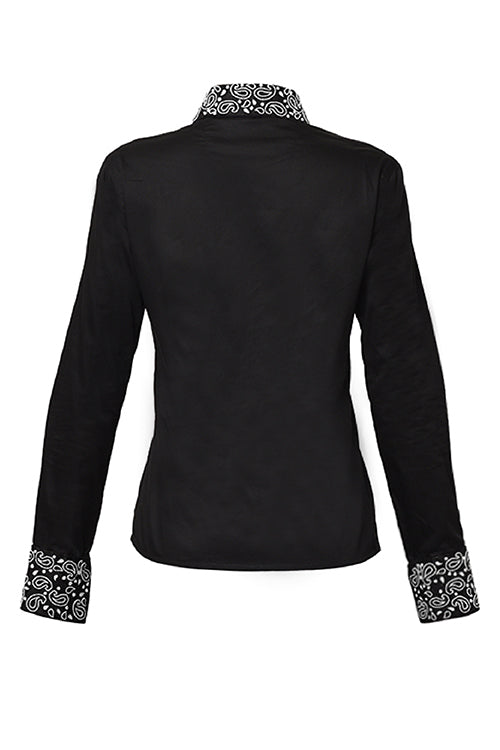 The Elizabeth Collection - Black Beaded Shirt