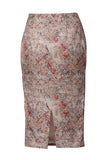 The Premium Quintessential collection - Raw silk Pencil Skirt