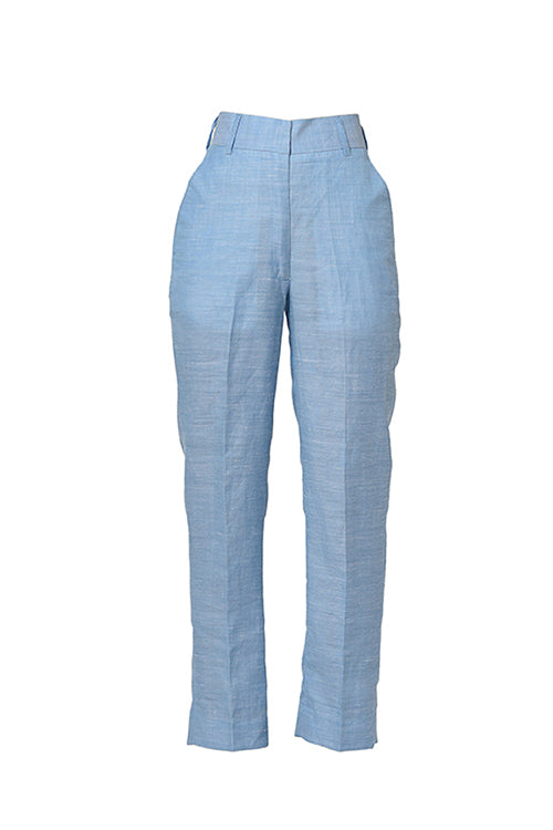 Cerulean Power Linen Trouser