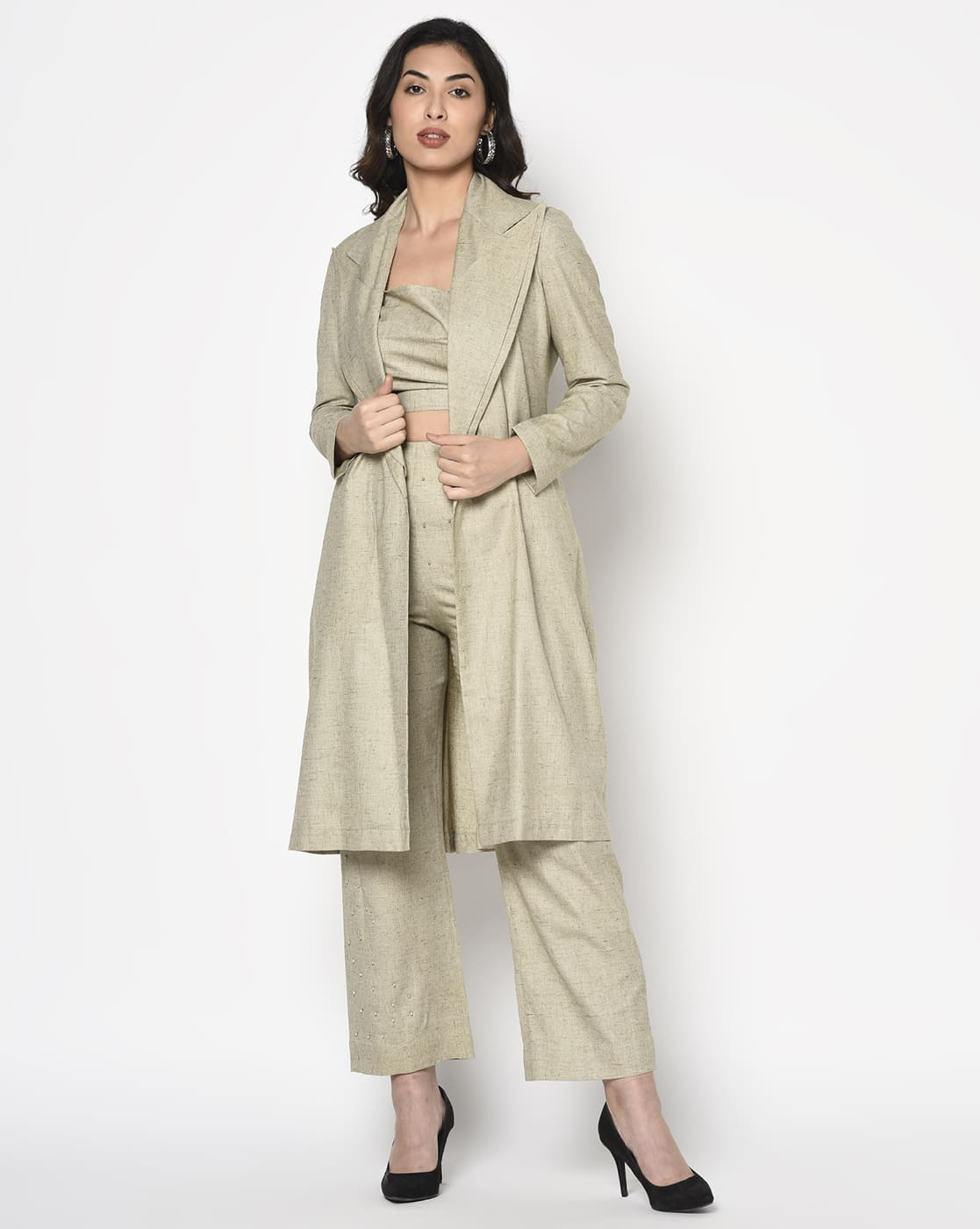 Khaki olive trench coat