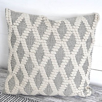 Black and Cream Throw Pillow
