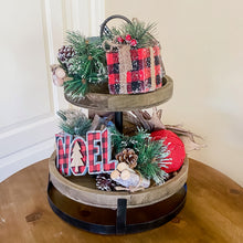 Load image into Gallery viewer, Buffalo Check Christmas Tiered Tray Kit