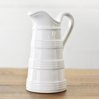 Petite French White Pitcher