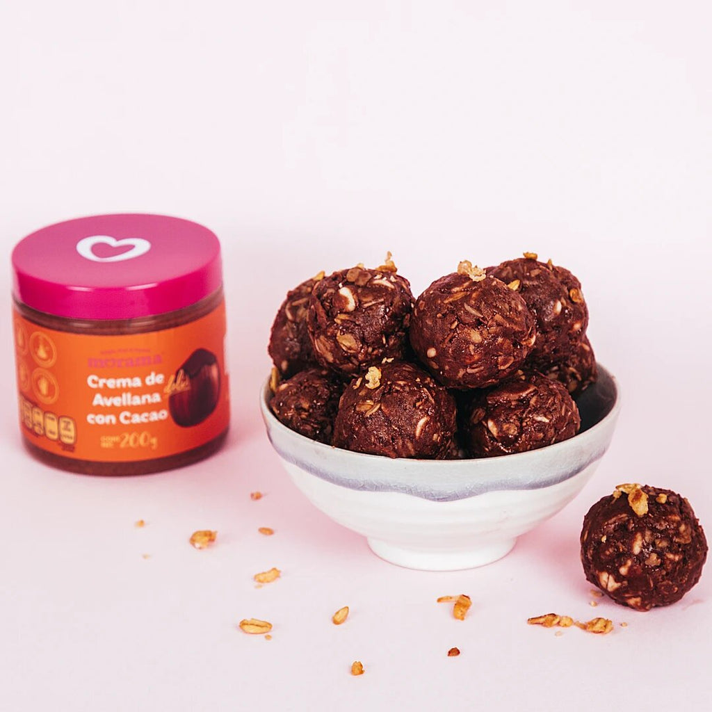 Energy balls with Hazelnut Butter and Cacao