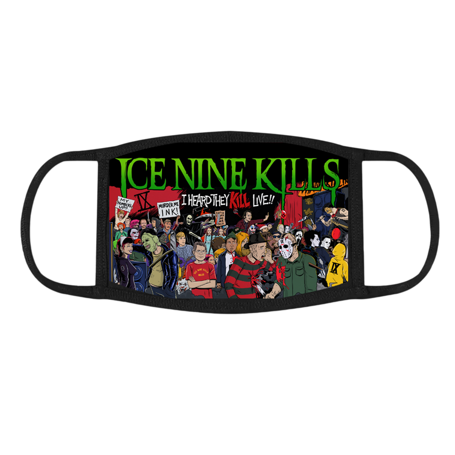 I Heard They KILL Live!! Face Mask (Black) // PREORDER
