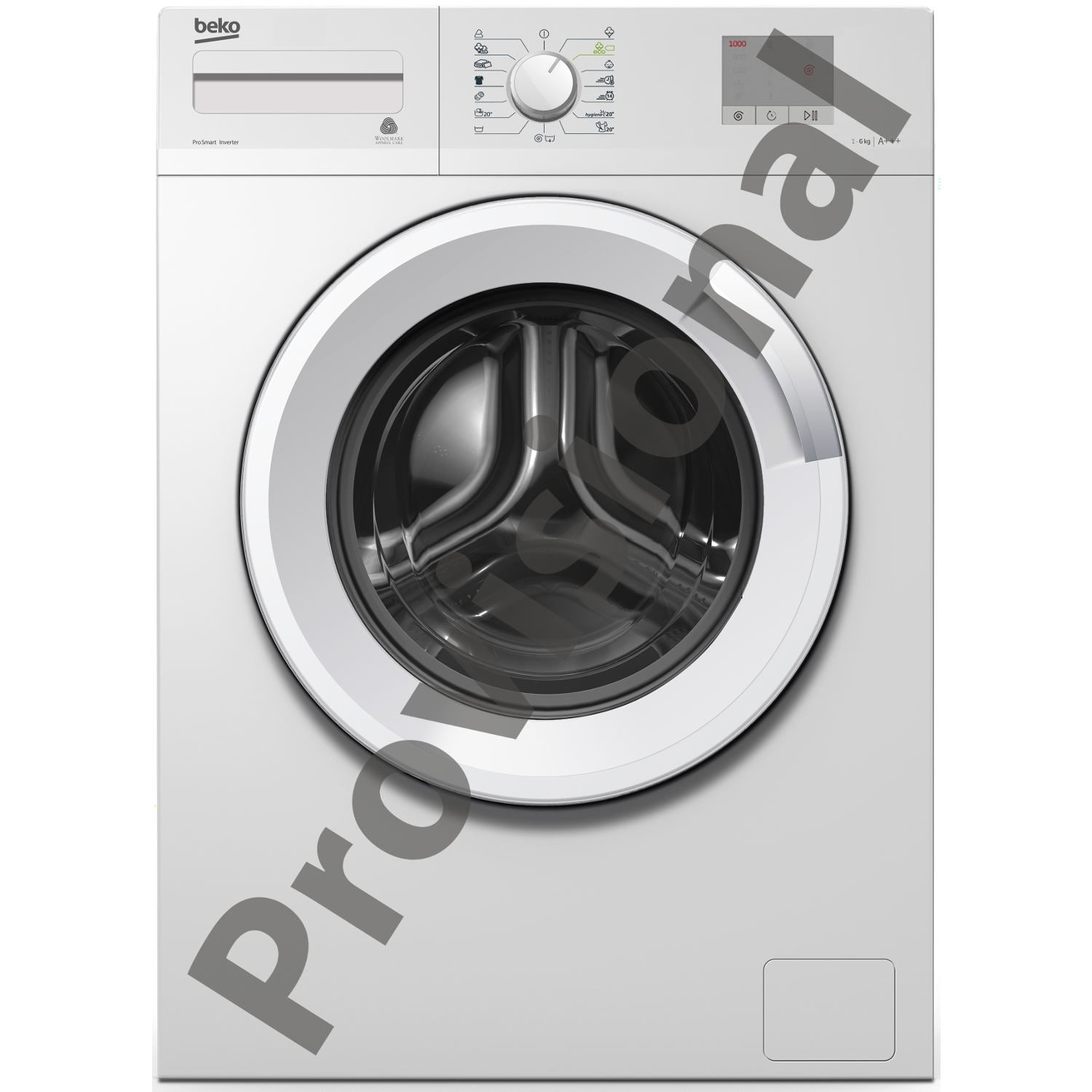 Beko WTG620M2W Freestanding Washing Machine - Sold as an agent of Euronics Ltd