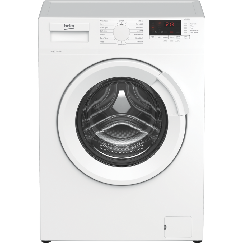 Beko WTL84141W 8kg 1400 Spin Washing Machine - White - A+++ Energy Rated