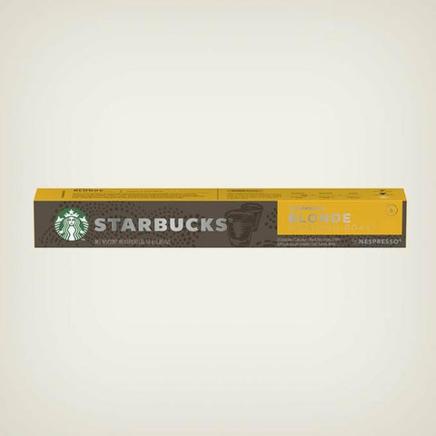 STARBUCKS® BLONDE ESPRESSO® ROAST BY NESPRESSO®