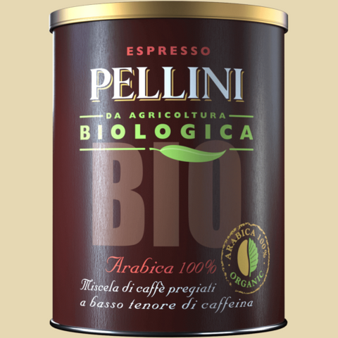 Pellini Bio Arabica 100% in tin
