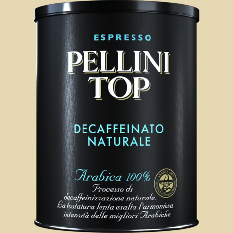 Pellini Top Arabica 100% Decaffeinato Naturale - 250g