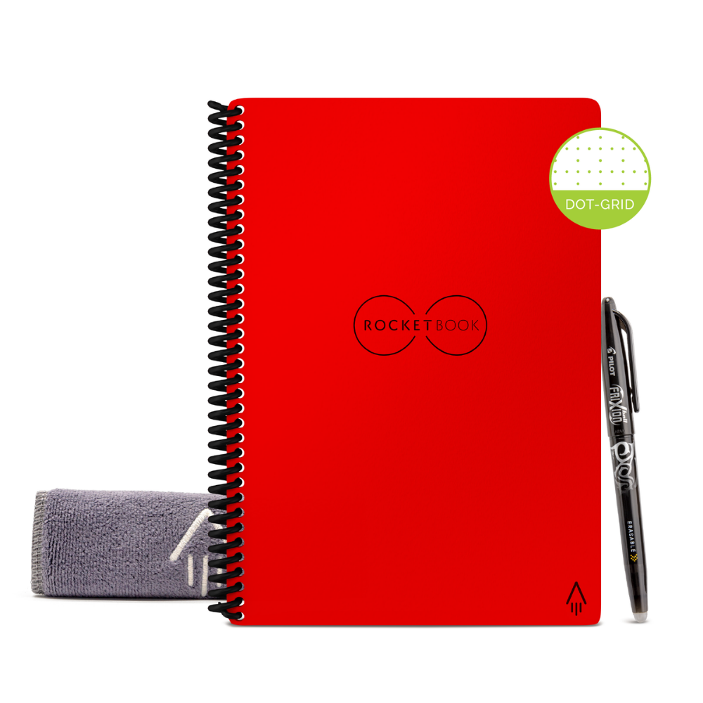 Rocketbook Core Dot Grid | Executive A5 - Atomic Red - Hutton