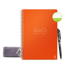 Load image into Gallery viewer, Rocketbook Core Dot Grid | Executive A5 - Beacon Orange - Hutton