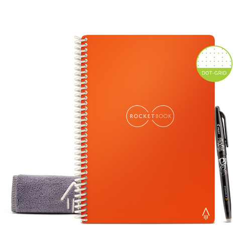 Rocketbook Core Dot Grid | Executive A5 - Beacon Orange - Hutton